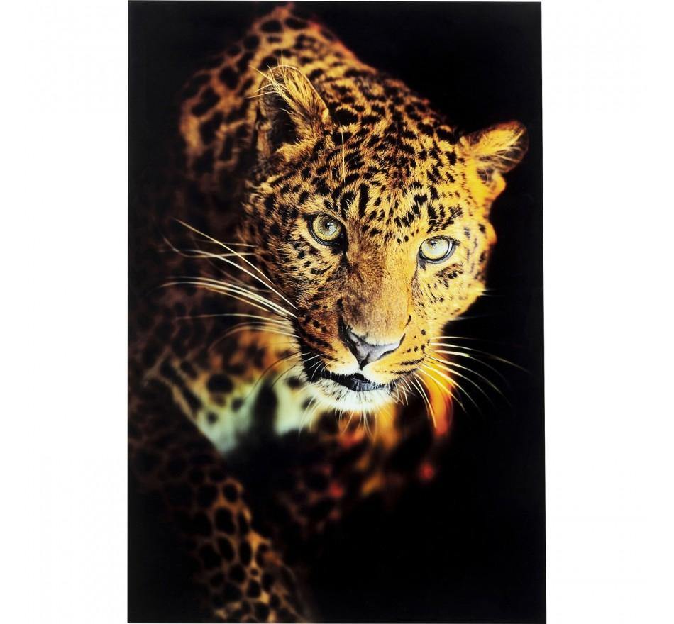 Tableau en verre Leopard Shaka 120x80