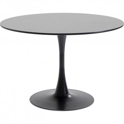Table Schickeria noir Ø110