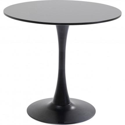 Table Schickeria noir Ø80