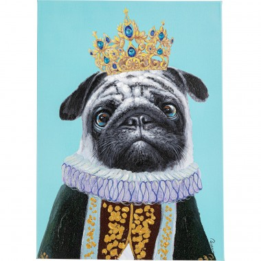 Tableau Touched Dog Big King 70x50