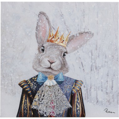 Tableau Touched King of Rabbit 50x50