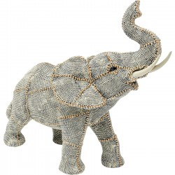 Deco Object Walking Elephant Pearls Small Kare Design