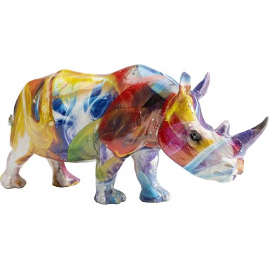 Figurine décorative Colored Rhino