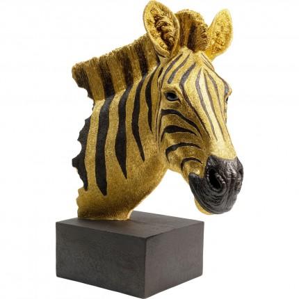 Deco Object Zebra Gold Kare Design