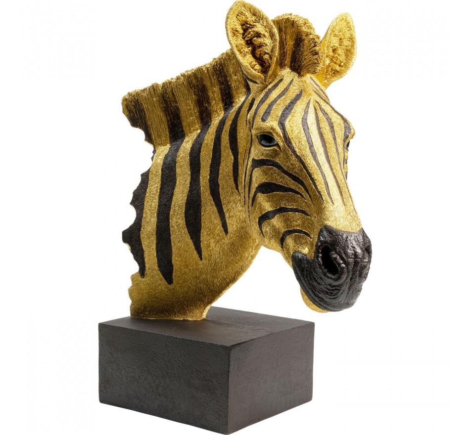 Objet décoratif Zebra doré