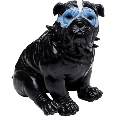 Tirelire Blue Mask Bulldog noir