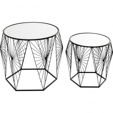 Table d appoint Cobweb noir (2/set)