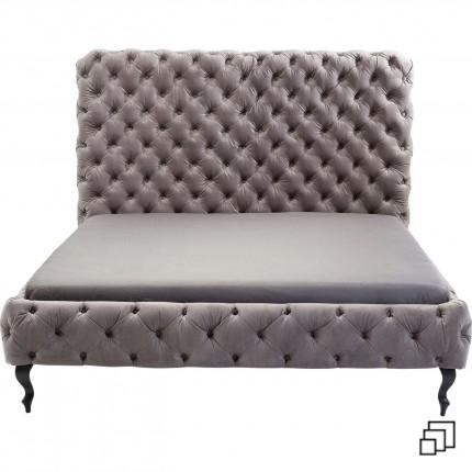 Bed Desire Hoog Zilver Grijs Fluweel Kare Design
