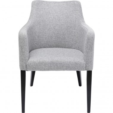 Chair with Armrest Mode Dolce Light Grey