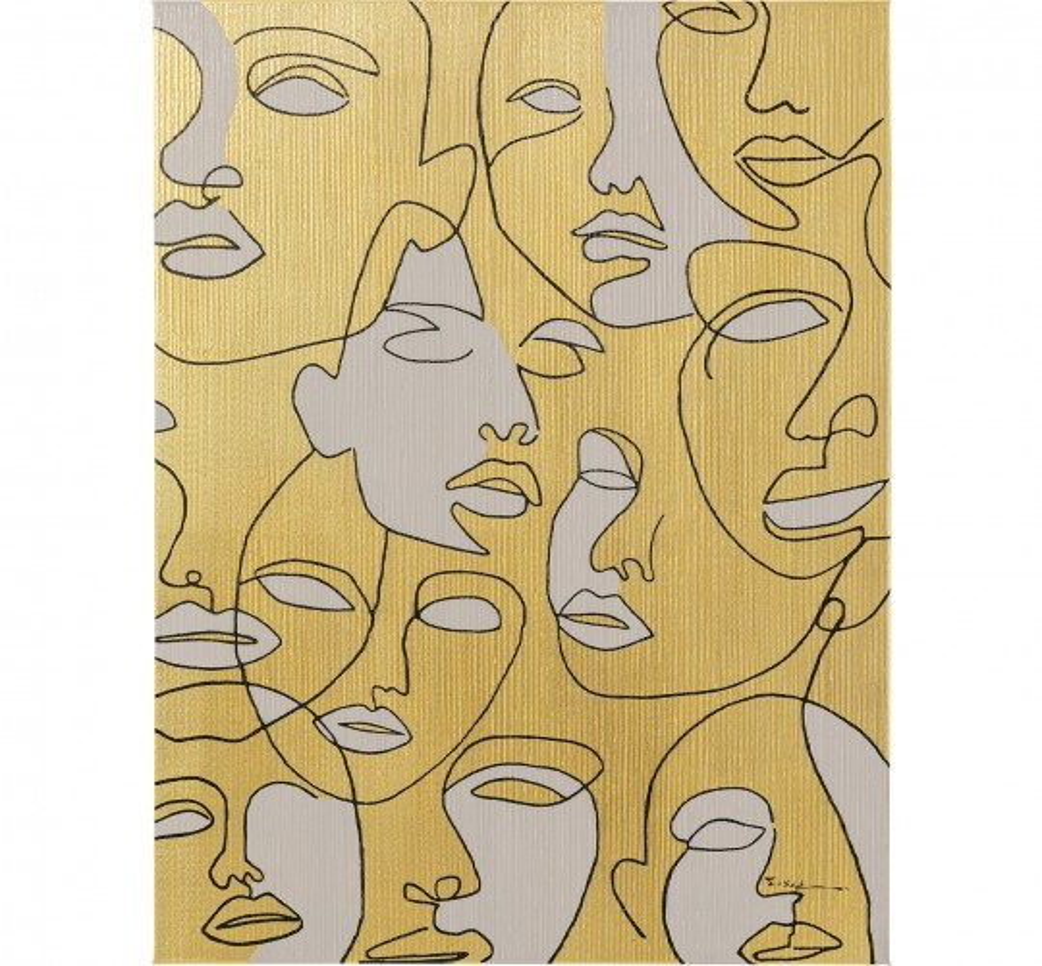 Tableau sur toile Faces 70x100cm
