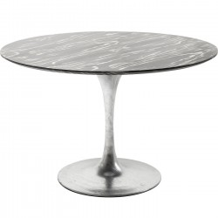 Table Invitation ébène & zinc 120cm Kare Design