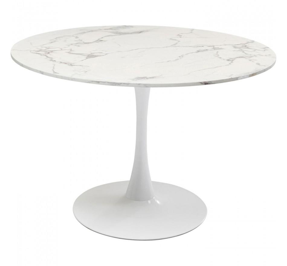Table Schickeria Marbleprint blanc Ø110cm