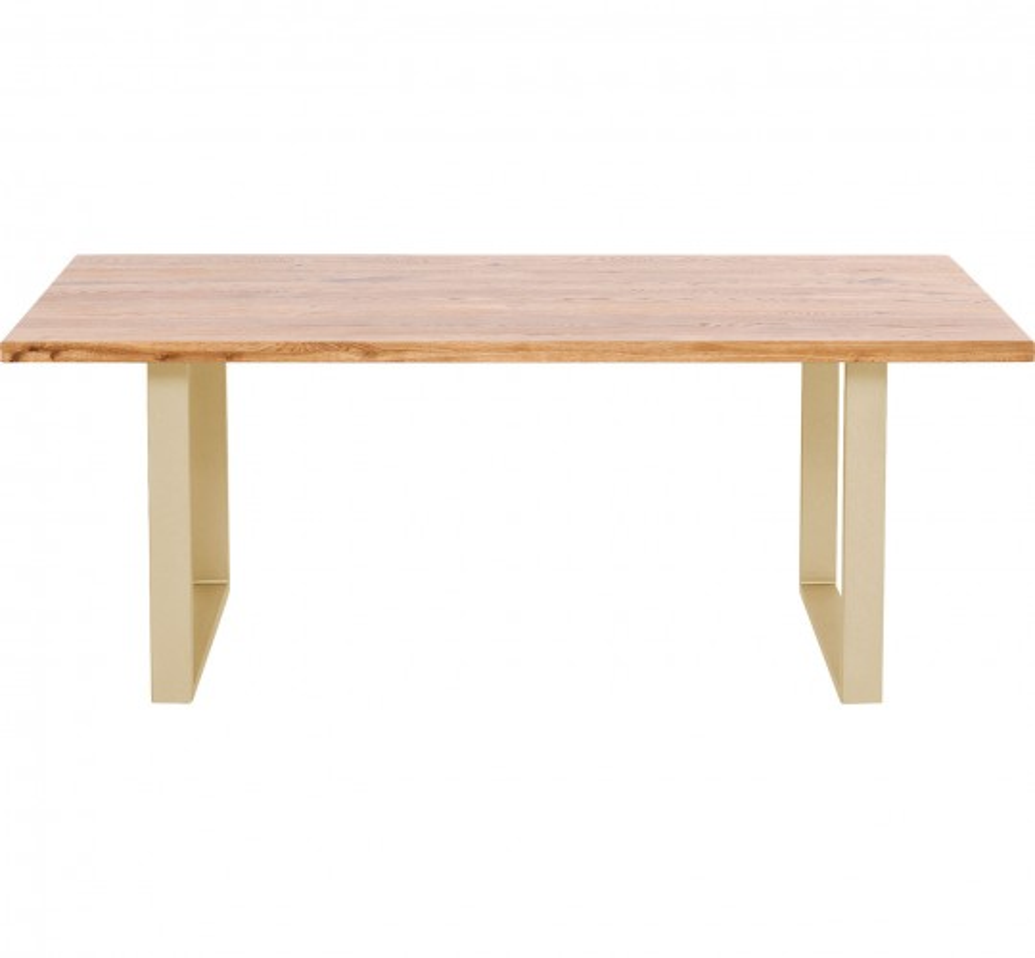 Table Jackie chêne-laiton 160x80