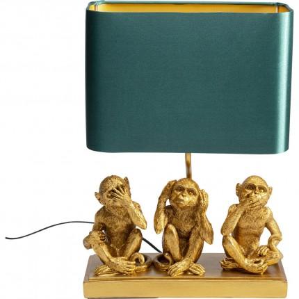 Table Lamp Animal Three Monkey Gold Kare Design