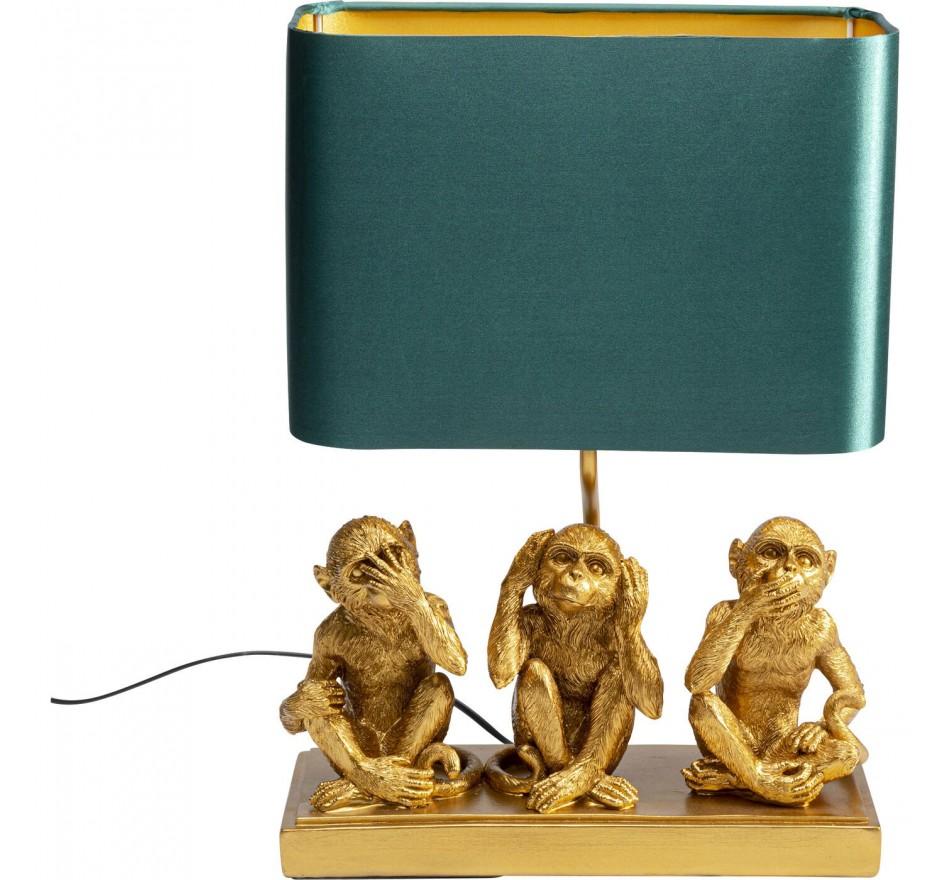 Lampe à poser Animal Three Monkey doré
