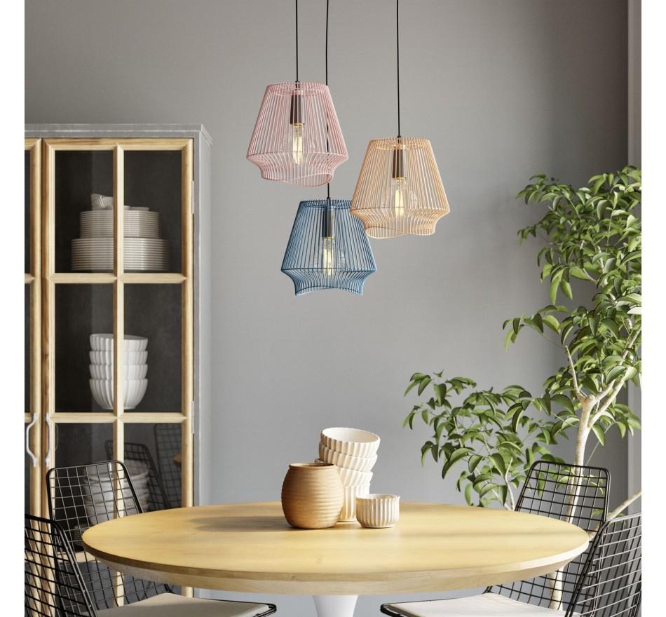 Table Invitation chêne & blanc 90cm Kare Design