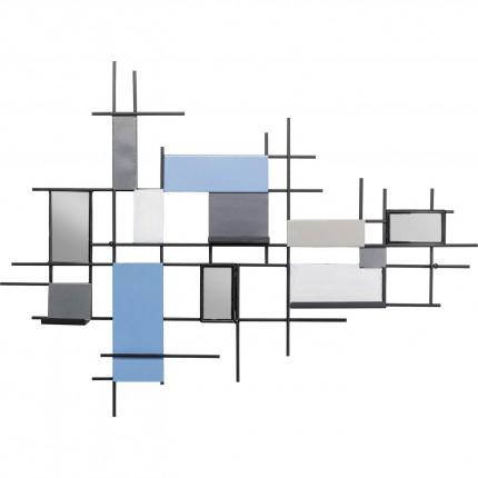 Wand kapstok Wireframe Tetragon 80cm Kare Design